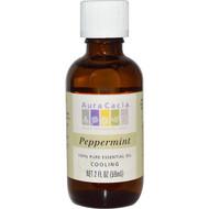 Aura Cacia, 100% Pure Essential Oil, Peppermint, 2 fl oz (59 ml)