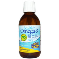 Natural Factors SeaRich Omega-3 750 mg EPA 500 mg DHA with Vitamin D3 Lemon Meringue - 6.76 fl oz