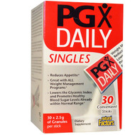 Natural Factors, PGX Daily, Singles, Unflavored Granules, 30 Sticks, (2.5 g) Each