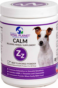 Vital Planet Calm Relaxing Herbal Supplement for Dogs Beef - 3.92 oz