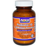NOW Foods Probiotic-10 50 Billion Powder - 2 oz