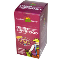 Amazing Grass, Green SuperFood, Antioxidant Berry Drink Powder, 15 Individual Packets, 7 g Each