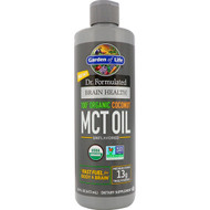 Garden of Life, Dr. Formulated Brain Health, 100% Organic Coconut MCT Oil, Unflavored, 16 fl oz (473 ml)