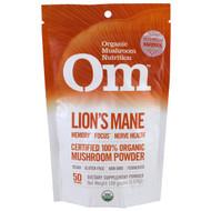 Organic Mushroom Nutrition, Lions Mane, Mushroom Powder , 3.57 oz (100 g)