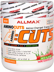 ALLMAX Nutrition, AMINOCUTS (ACUTS), BCAA + Taurine + CLA + Green Coffee, Watermelon, 7.4 oz (210 g)