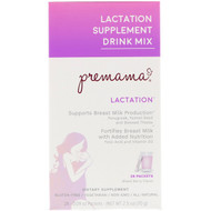 Premama, Lactation Supplement Drink Mix, Mixed Berry, 28 Packets, 2.5 oz (70 g)
