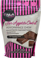 NLA for Her, Her Appetite Control, Performance Chew, Rich Chocolate Flavor, 30 Soft Chews