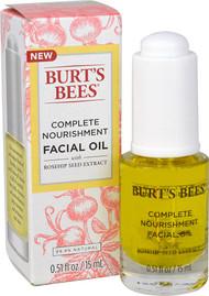 Burts Bees Complete Nourishment Facial Oil - Anti-Aging Oil -- 0.51 fl oz