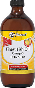 Vitaco, Liquid Finest Fish Oil Omega-3 DHA & EPA,  Lemon - 16.9 fl oz