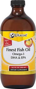 Vitaco Synergy Liquid Finest Fish Oil Omega-3 DHA & EPA Lemon -- 16.9 fl oz