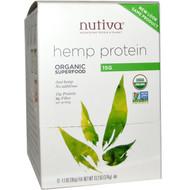 Nutiva, Organic Superfood, Hemp Protein, 12 Packets, 1.1 oz (30 g) Each
