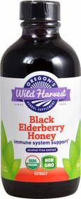 Oregon's Wild Harvest Black Elderberry Honey Alcohol Free Extract - 4 fl oz
