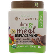 Sunwarrior, Illumin8, Plant-Based Organic Superfood Meal Replacement, Aztec Chocolate, 14.1 oz (400 g)