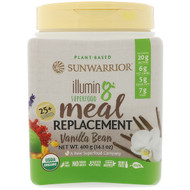 Sunwarrior, Illumin8, Plant-Based Organic Superfood Meal Replacement, Vanilla Bean, 14.1 oz (400 g)