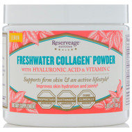 ReserveAge Nutrition, Freshwater Collagen Powder with Hyaluronic Acid & Vitamin C, Lemon, 3.03 oz (86 g)