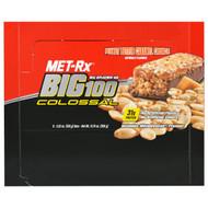 MET-R|X, Big 100 Colossal, Meal Replacement Bar, Peanut Butter Caramel Crunch, 9 Bars, 3.52 oz (100 g) Each