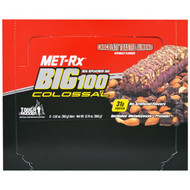 MET-R|X, Big 100 Colossal, Meal Replacement Bar, Chocolate Toasted Almond, 9 Bars, 3.52 oz (100 g) Each