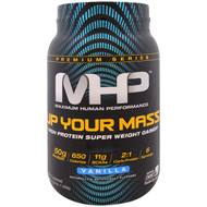 Maximum Human Performance, Up Your Mass, High Protein Super Weight Gainer, Vanilla, 2.33 lbs (1,056 g)