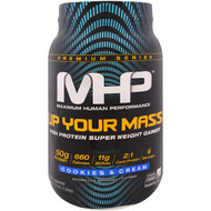 Maximum Human Performance, Up Your Mass, High Protein Super Weight Gainer, Cookies & Cream, 2.33 lbs (1,056 g)