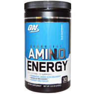 Optimum Nutrition Essential AMIN.O Energy Blue Raspberry -- 30 Servings