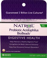 Natrol Probiotic Acidophilus BioBeads - 2 billion - 90 Beads