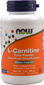NOW L-Carnitine Pure Powder - 3 oz