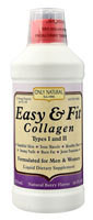 Only Natural Easy & Fit Collagen Types I and II  Natural Berry - 16 fl oz