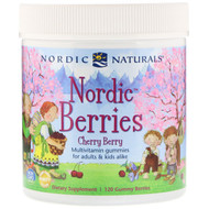 Nordic Naturals, Nordic Berries, Cherry Berry, 120 Gummy Berries