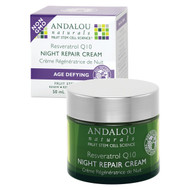Andalou Naturals, Night Repair Cream, Resveratrol Q10, Age-Defying, 1.7 fl oz (50 ml)
