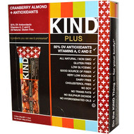 KIND Bars, Kind Plus, Cranberry Almond + Antioxidants with Macadamia Nuts, 12 Bars, 1.4 oz (40 g) Each