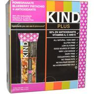 KIND Bars, Plus Bars, Pomegranate Blueberry Pistachio + Antioxidants, 12 Bars, 1.4 oz (40 g) Each