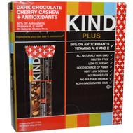 KIND Bars, Kind Plus, Dark Chocolate Cherry Cashew + Antioxidants, 12 Bars, 1.4 oz (40 g) Each