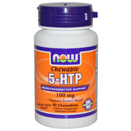 Now Foods, 5-HTP, Chewable, Natural Citrus Flavor, 100 mg, 90 Chewables