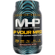 Maximum Human Performance, Up Your Mass, High Protein Super Weight Gainer, Chocolate, 2.35 lbs (1,068 g)