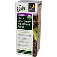 Gaia Herbs Black Elderberry Nighttime Syrup - 5.4 fl oz