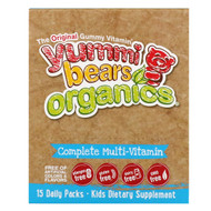 Hero Nutritional Products, Yummi Bears Organics, Complete Multi-Vitamin, Organic Fruit Flavors, 15 Daily Packs