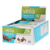 Vega, Protein Snack Bar, Chocolate Peanut Butter, 12 Bars, 1.6 oz (45 g) Each