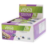 Vega, Protein Snack Bar, Blueberry Oat, 12 Bars, 1.6 oz (45 g) Each