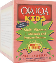 Ola Loa Kids Multi-Vitamin Drink Cran-Raspberry - 30 Packets