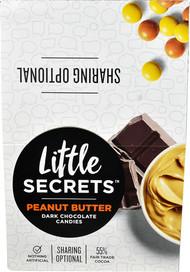Little Secrets LLC Candy Coated Dark Chocolate Candies Peanut Butter - 12 Packs