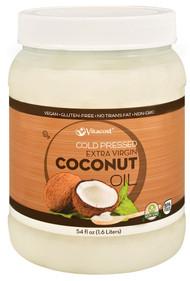 Vitaco Cold Pressed Extra Virgin Coconut Oil - Non-GMO and Gluten Free -- 54 fl oz (1.6 Liters)