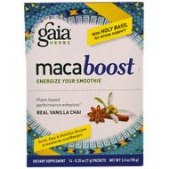 Gaia Herbs, MacaBoost, Real Vanilla Chai, 14 Packets, 0.25 oz (7 g) Each
