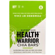Health Warrior Chia Bars Gluten Free Vegan Coconut -- 15 Bars