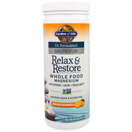 Garden of Life, Dr. Formulated Magnesium, Relax & Store Whole Food Magnesium, Orange Dreamsicle, 6.9 oz (196 g)