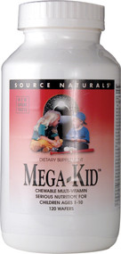 Source Naturals, Mega-Kid Chewable Multi Vitamin,  Natural Berry - 120 Chewable Wafers