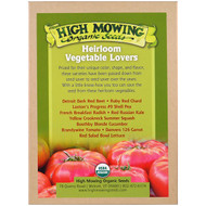 High Mowing Organic Seeds, Heirloom Vegetable Lovers, Organic Seed Collection, Variety Pack, 10 Packets