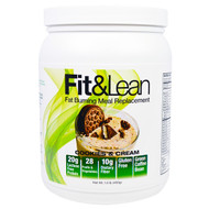Maximum Human Performance, Fit & Lean, Fat Burning Meal Replacement, Cookies & Cream, 1.0 lb (450 g)