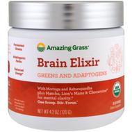 Amazing Grass, Brain Elixir, Greens And Adaptogens, 4.2 oz (120 g)