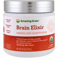 Amazing Grass, Brain Elixir, Greens And Adaptogens, 4.2 oz (120 g)