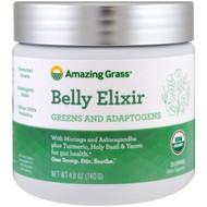 Amazing Grass, Belly Elixir, Greens And Adaptogens, 4.9 oz (140 g)